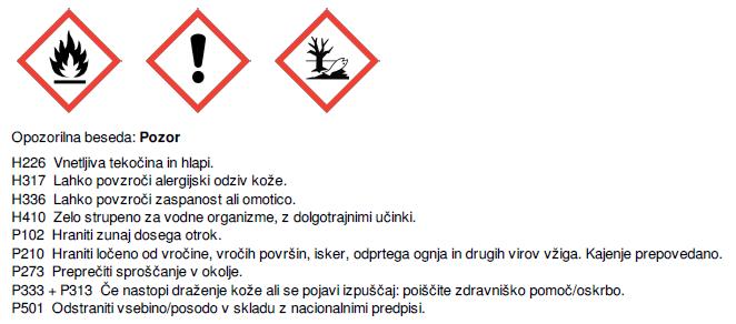 Insekticidni izdelek - opozorilo