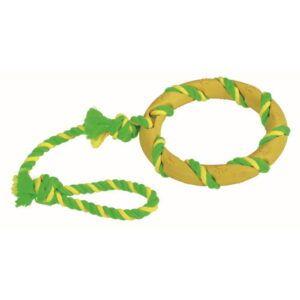 Gumijast obroč na vrvi za pse