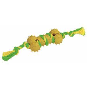 Pasja kost iz gume z vrvjo