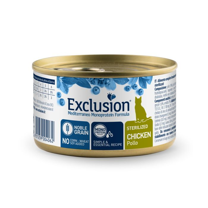 Mokra hrana za mačke Exclusion