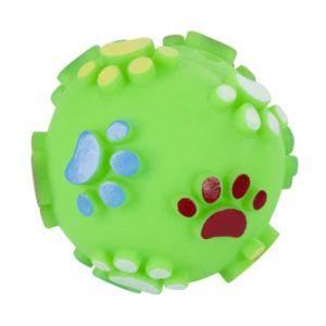 Pasja žoga s pisanimi tačkami
