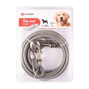 Jeklena vrv za privez psa