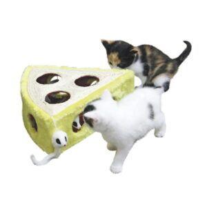Praskalnik za mačke v obliki sira