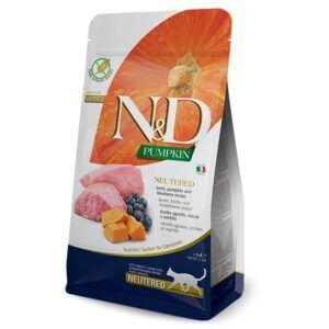 N&D Pumpkin Cat Neutered Lamb & Blueberry