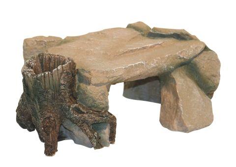 Dekoracija za terarije / akvarije votlina z štorom 25cm