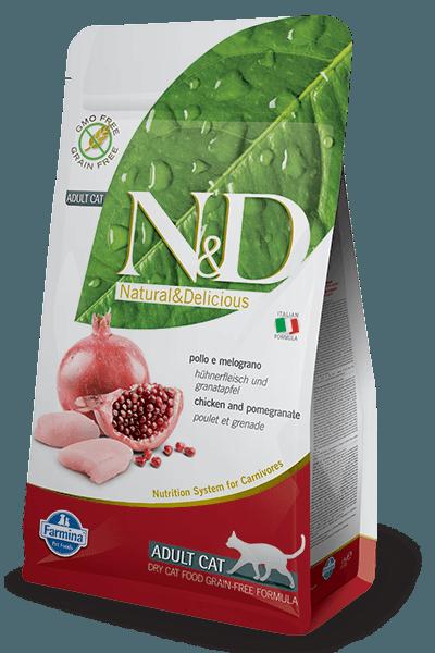 Natural & Delicious Cat Grain-free Adult piščanec in granatno jabolko 1,5kg