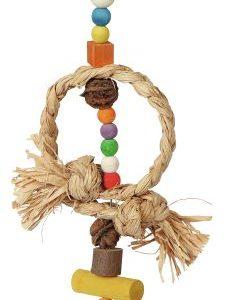 Naravna igračka za ptice z zvončkom