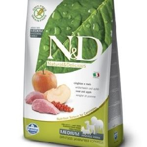 Natural & Delicious Dog Grain-free Adult Medium divja svinja in jabolko 2,5kg