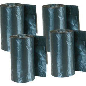 Vrečke za iztrebke - nadomestne 4x20 vrečk - črne