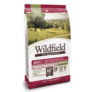 Hrana za pse Wildfield adult medium & large bred (odrasli psi srednjih in velikih pasem), okus country, briketi s svinjino, zajcem in jajci