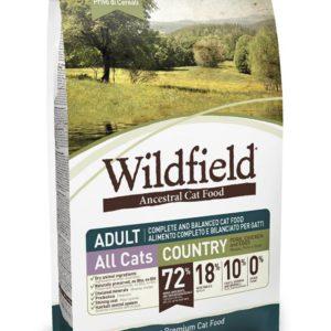 Hrana za mačke Wildfield cat adult (za odrasle mačke), okus country - briketi za odrasle mačke - briketi brez žitaric s svinjino, piščancem in jajci