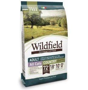 Hrana za mačke Wildfield cat adult (hrana za odrasle mačke), okus country - briketi s svinjino, piščancem in jajci, mačja hrana brez žitaric, 2kg