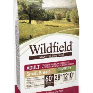 Hrana za pse WILDFIELD adult small breed (odrasli psi malih pasem) okus COUNTRY, briketi s svinjino, zajcem in jajci, 400g