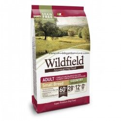 Hrana za pse WILDFIELD adult small breed (odrasli psi malih pasem), okus COUNTRY, briketi s svinjino, zajcem in jajci, 7kg